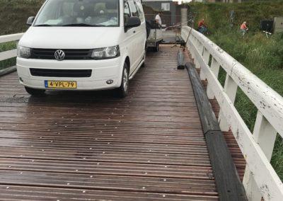 Renovatie brugdek aan de Schapendam in Woudrichem